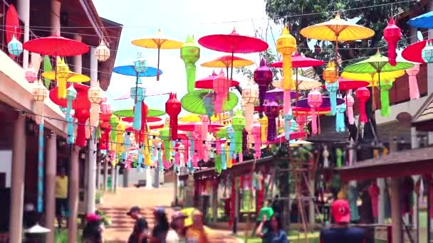 Art lamps in northern Thailand Hanging outdoor decorations time lapse