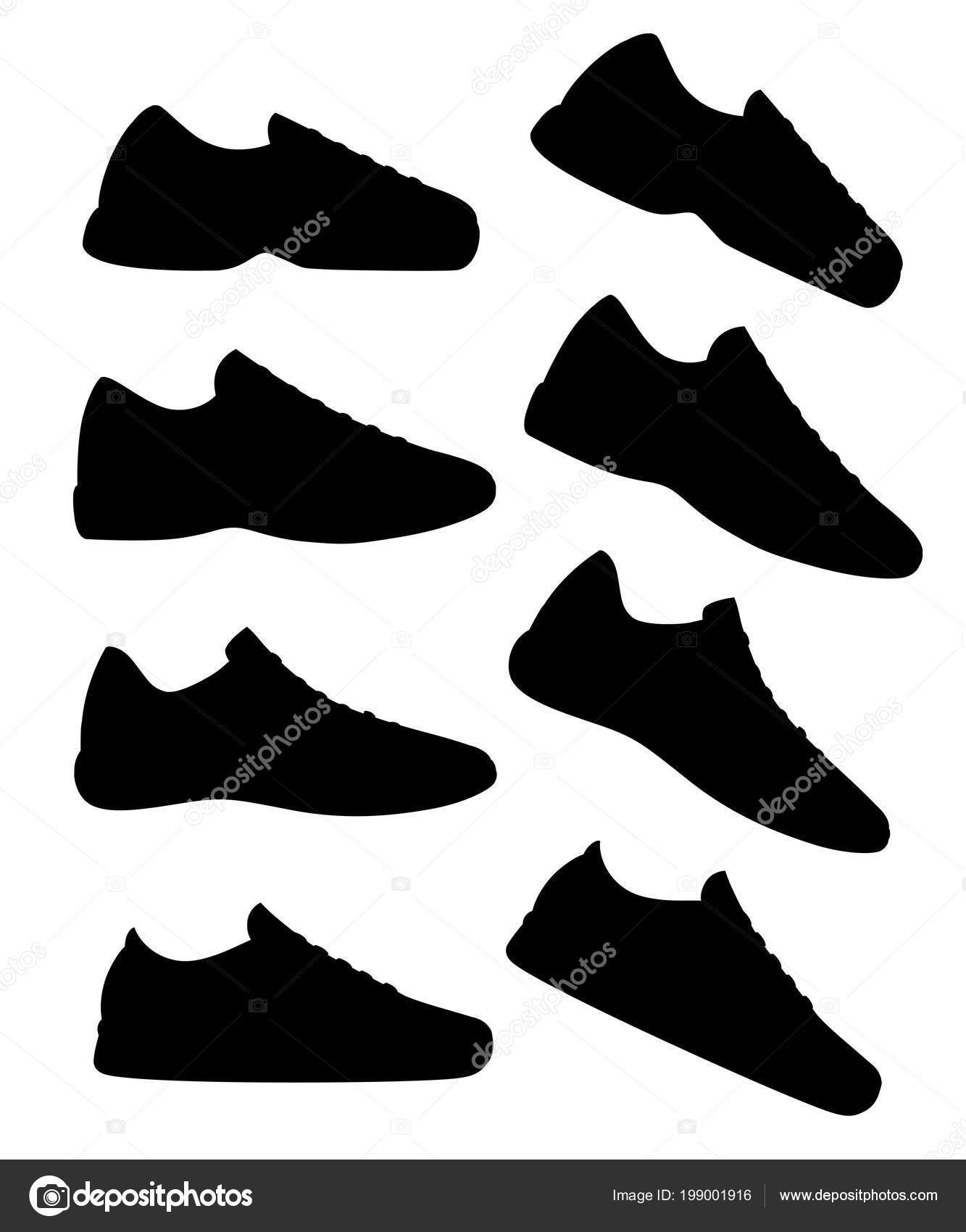 newest 732c8 87ba3 Schwarze Silhouette Sneaker Schuh Sportliche Sneakers Vektor ...