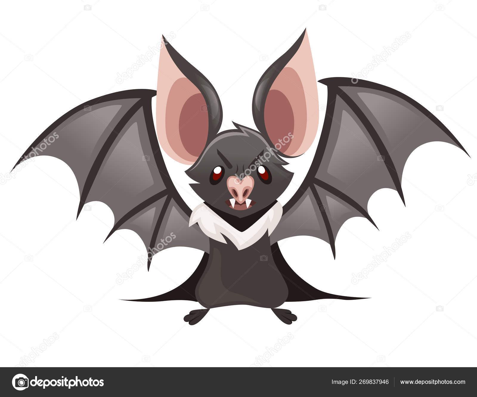 A Picture Of A Cartoon Bat cartoon bat. cute vampire bat, flying mammal. flat vector