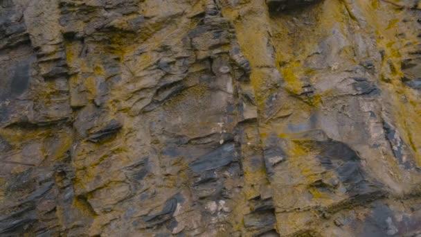 Detailní pohled na Rock. Šedé a žluté rock textury.