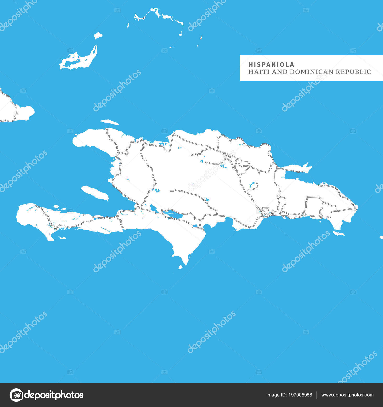 Haiti Karte.Karte Der Insel Hispaniola Haiti Und Dominikanische Republik