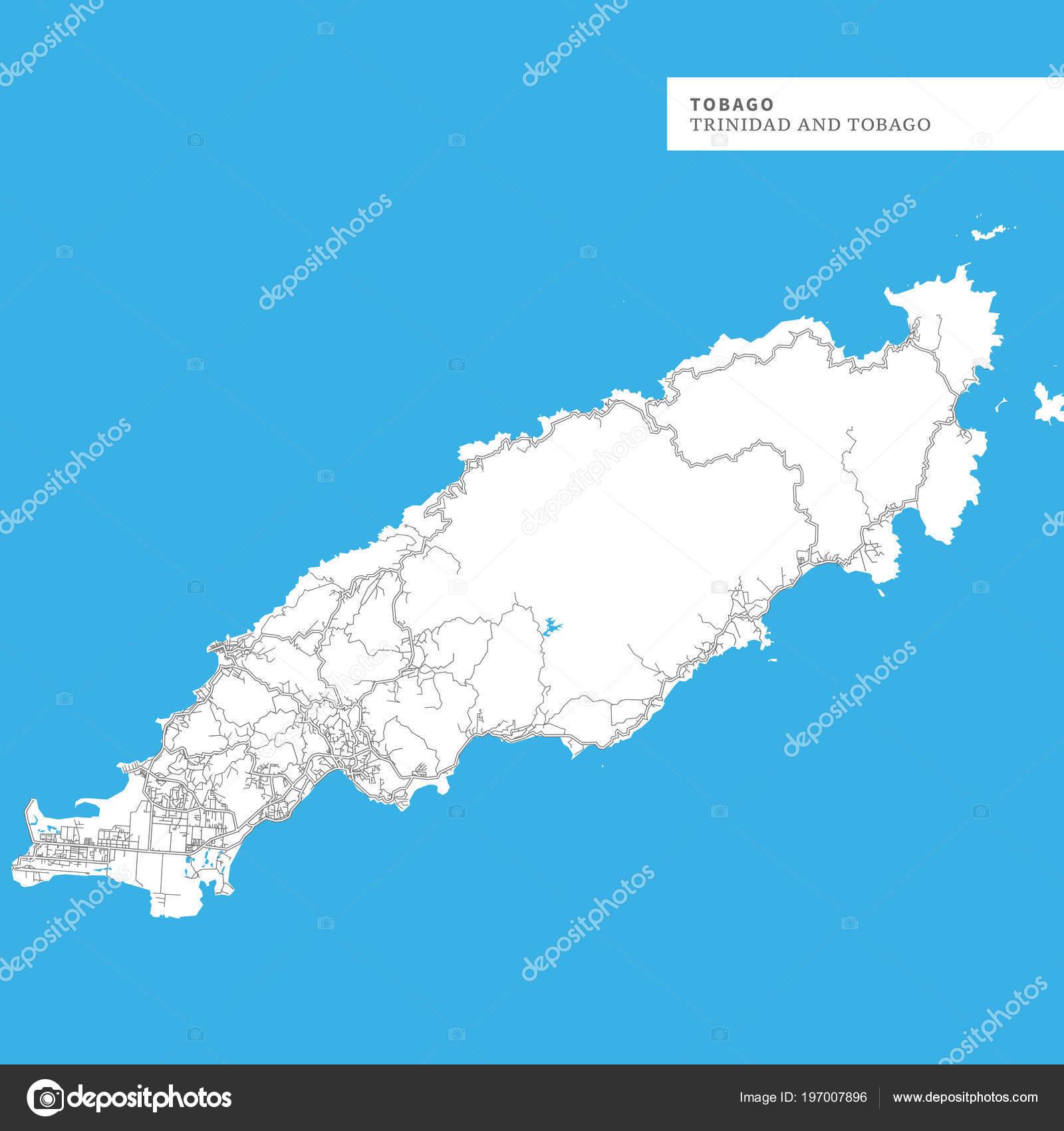 Map Tobago Island Trinidad Tobago Contains Geography ...