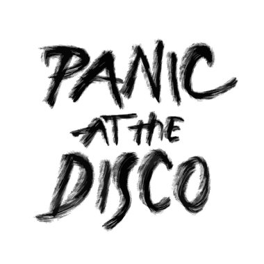 Panic at the disco, hand drawn lettering, poster print design vector element