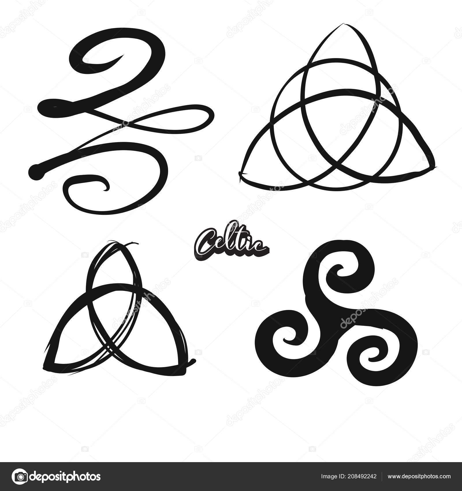 Set Of Hand Drawn Celtic Symbols Stock Vector Mailhebstreit
