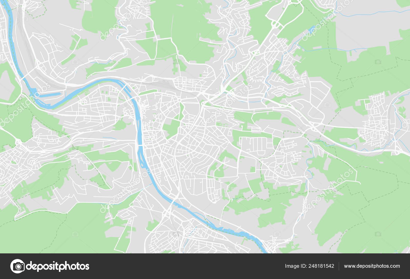 Karta Goroda Vyurcburg Germaniya Vektornoe Izobrazhenie C Mail