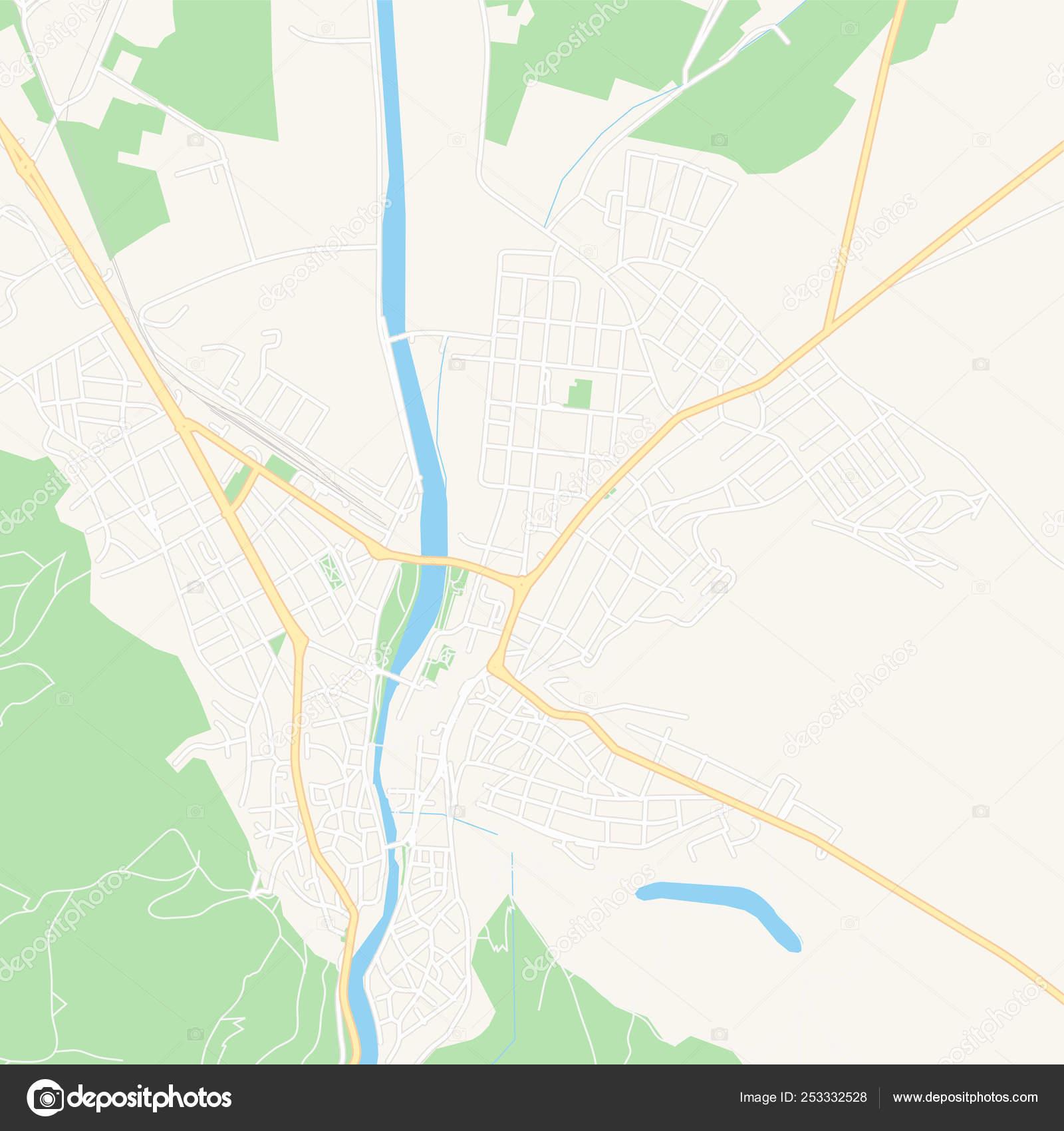 Versiya Dlya Pechati Karta Asenovgrad Bolgariya Vektornoe