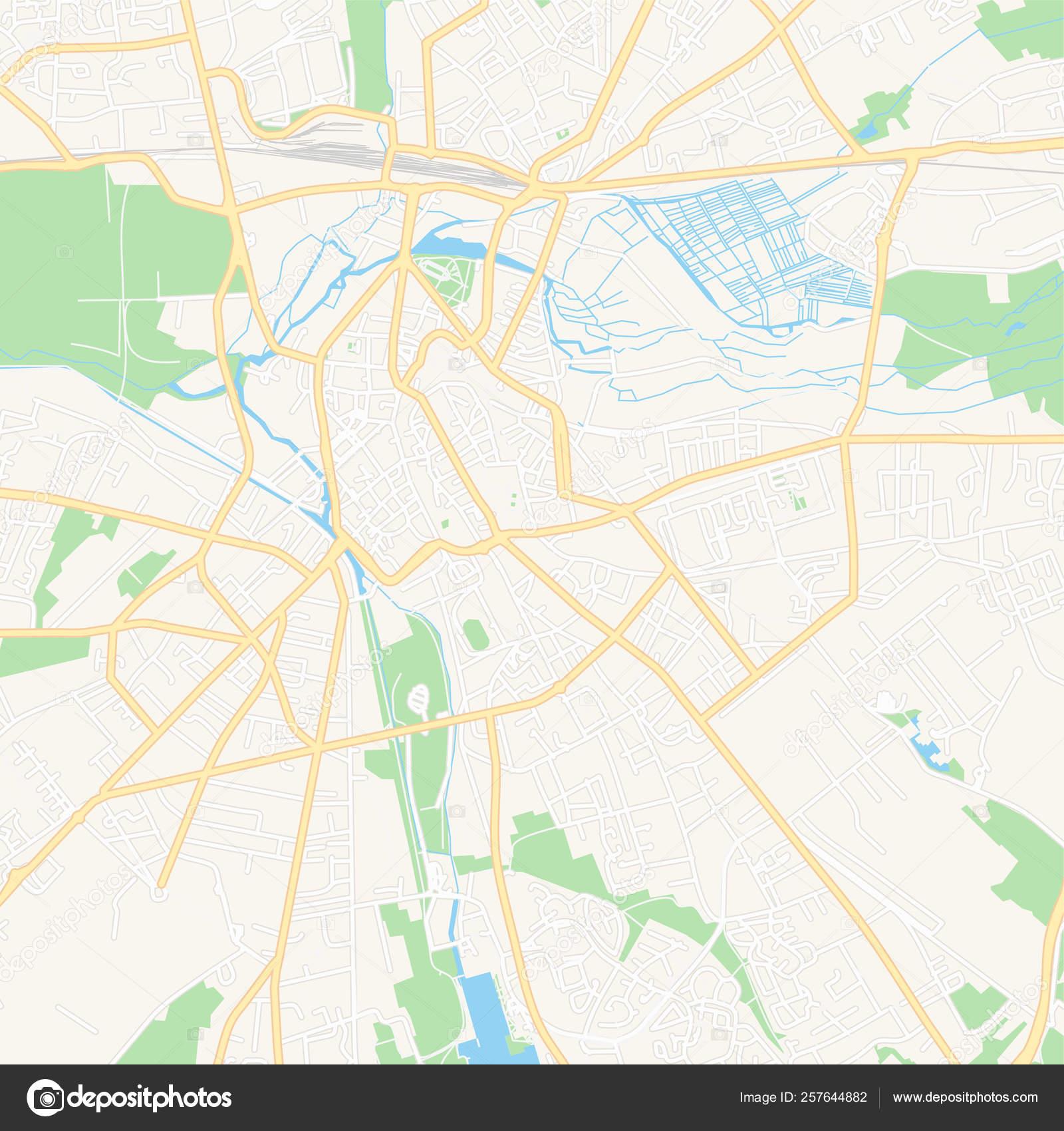 Bourges Francia Mapa Imprimible Vector De Stock C Mail