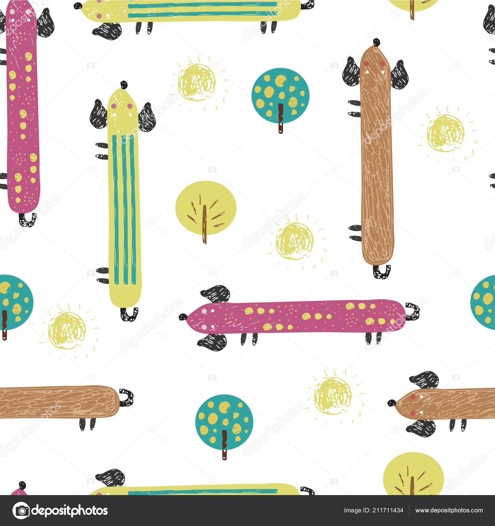 Resumen ilustración de perro. Personaje de dibujos animados. Para ...