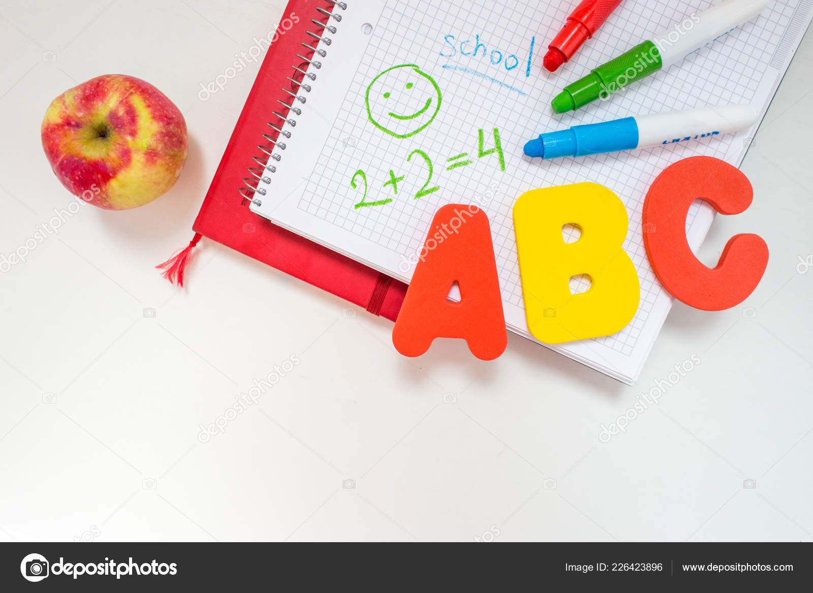 education in primary school  a layout of ABC letters, a