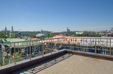 Observation deck near the building of the Russian Academy of Sciences (RAS), Moscow, Russia