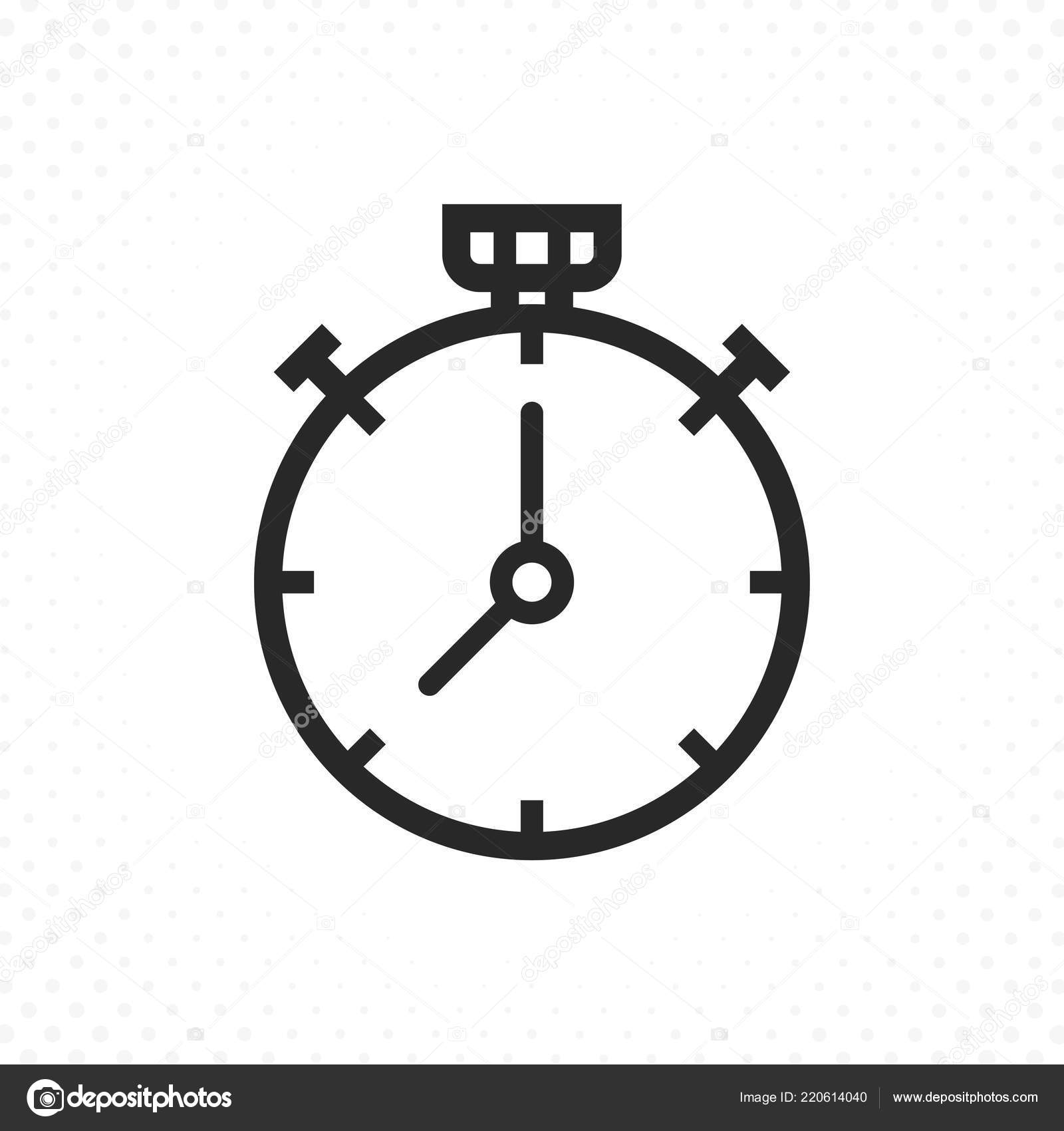 Stopwatch Icon Timer Line Icon Chronometer Thin Line Icon