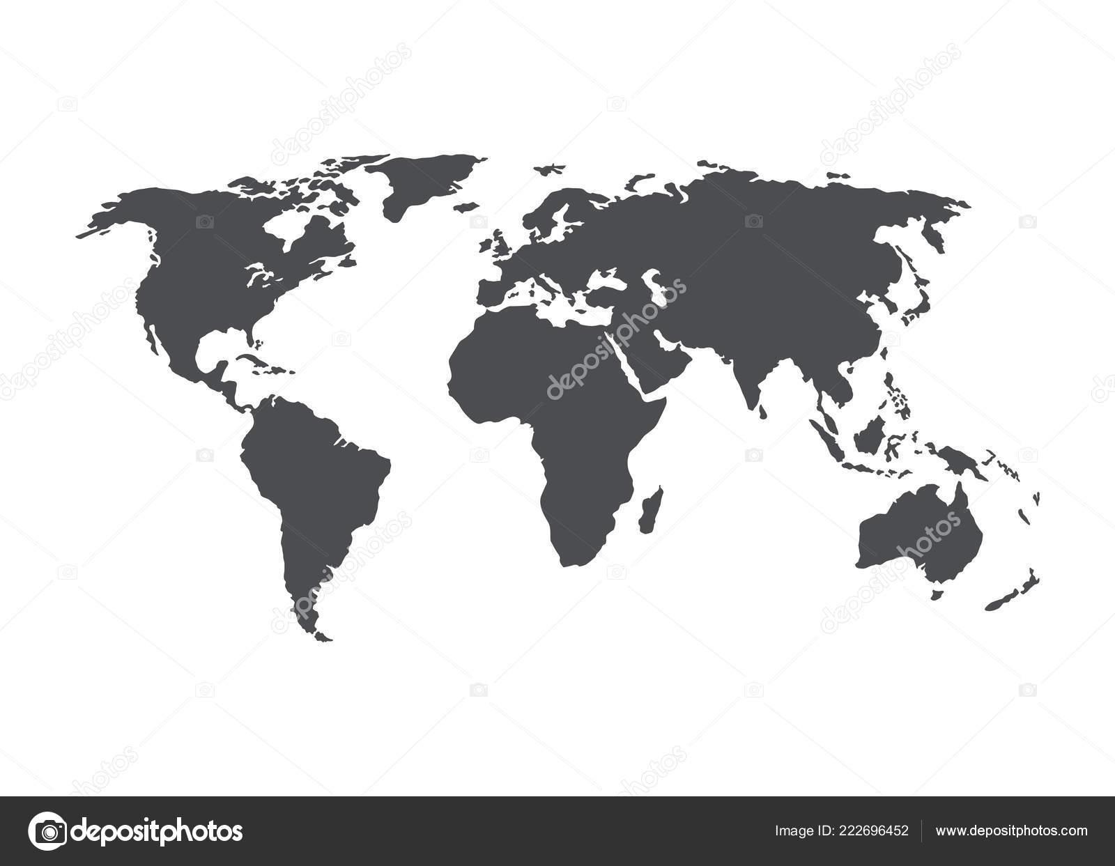 World Map Vector Gray Blank Vector World Map Isolated White — Stock on hp world map, linkedin world map, bank of america world map, fox news world map, craigslist world map, blog world map, country finder world map, ashley madison world map, ask world map, mail world map, cbs world map, iphone world map, skype world map, tcs world map, viewable world map, newspaper world map, email world map, airbnb world map, att world map,