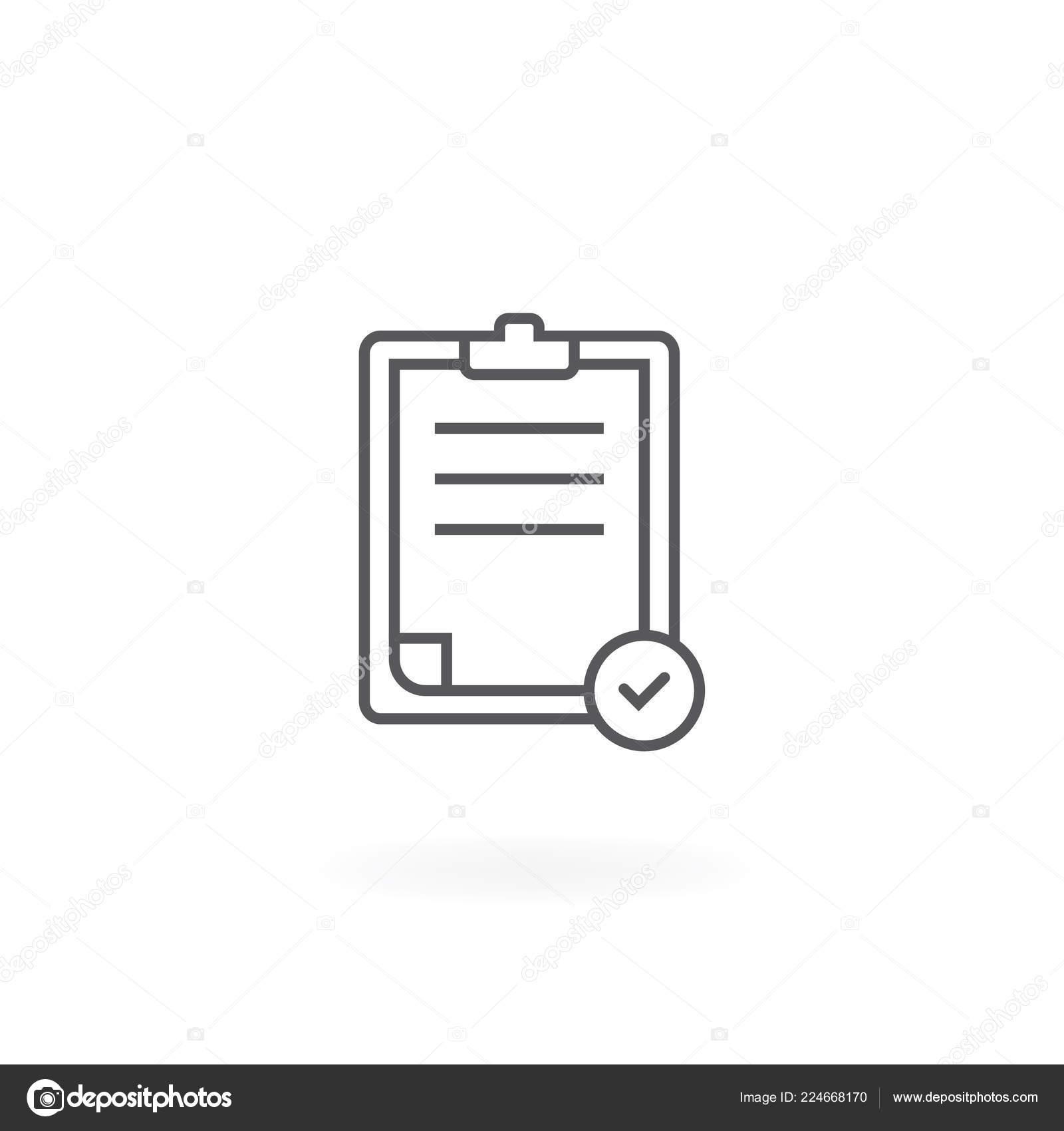 Check List Icon Modern Clipboard Line Icon Clipboard Icon