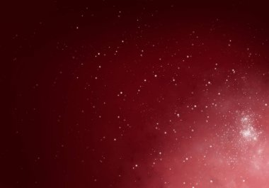Red Winter Background with snowflakes for your own creations