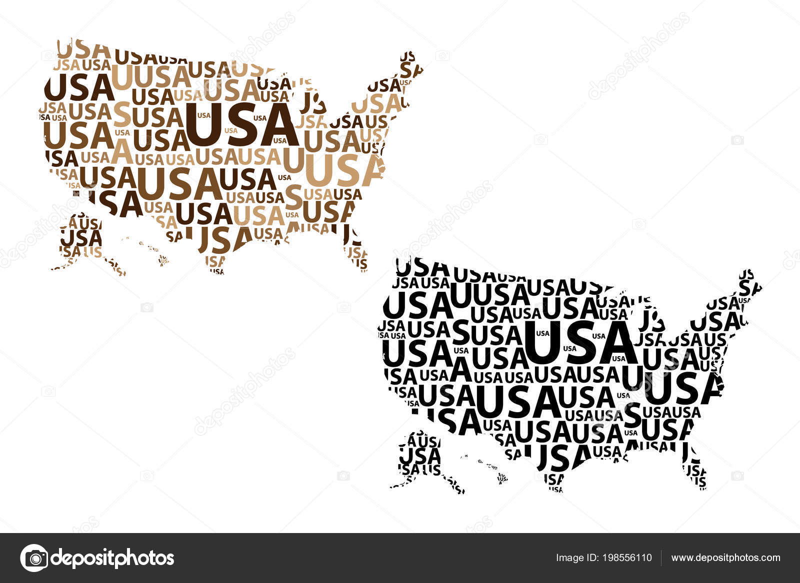 Vereinigte Staaten Von Amerika Brief Text Kartenskizze Usa Der Form