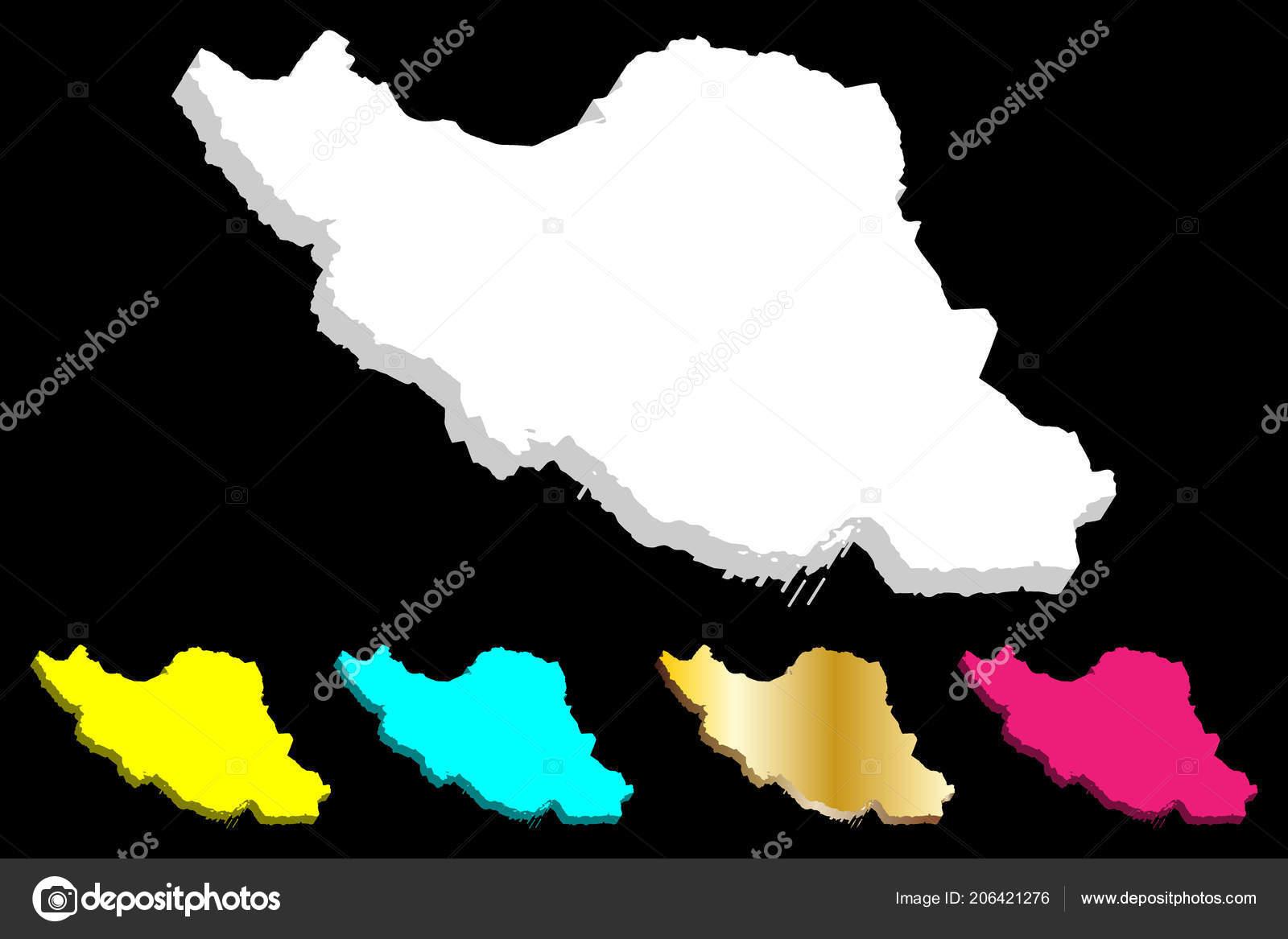 Persien Karte.Karte Des Iran Islamische Republik Iran Persien Weiß Gelb Lila