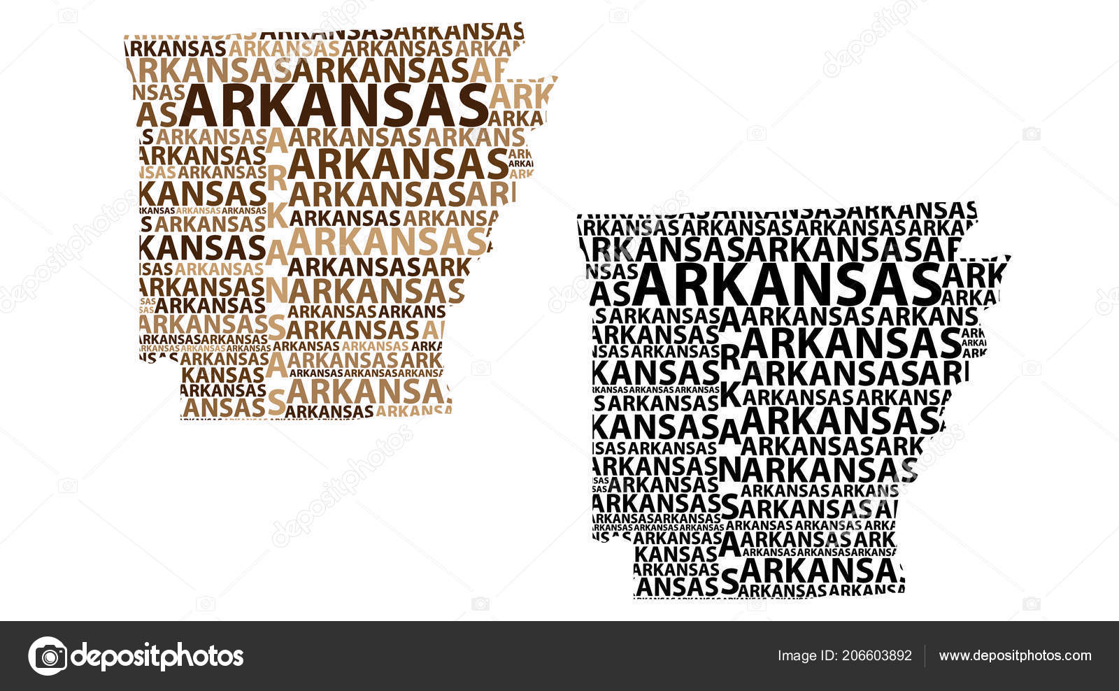 Sketch Arkansas United States America Natural State Bear State ...