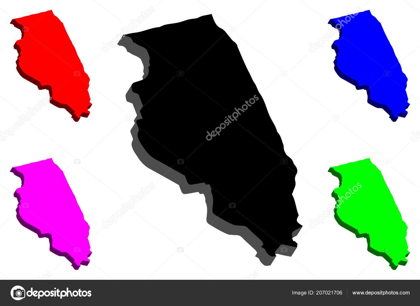 Purple America Map.Map Illinois United States America Black Red Purple Blue Green