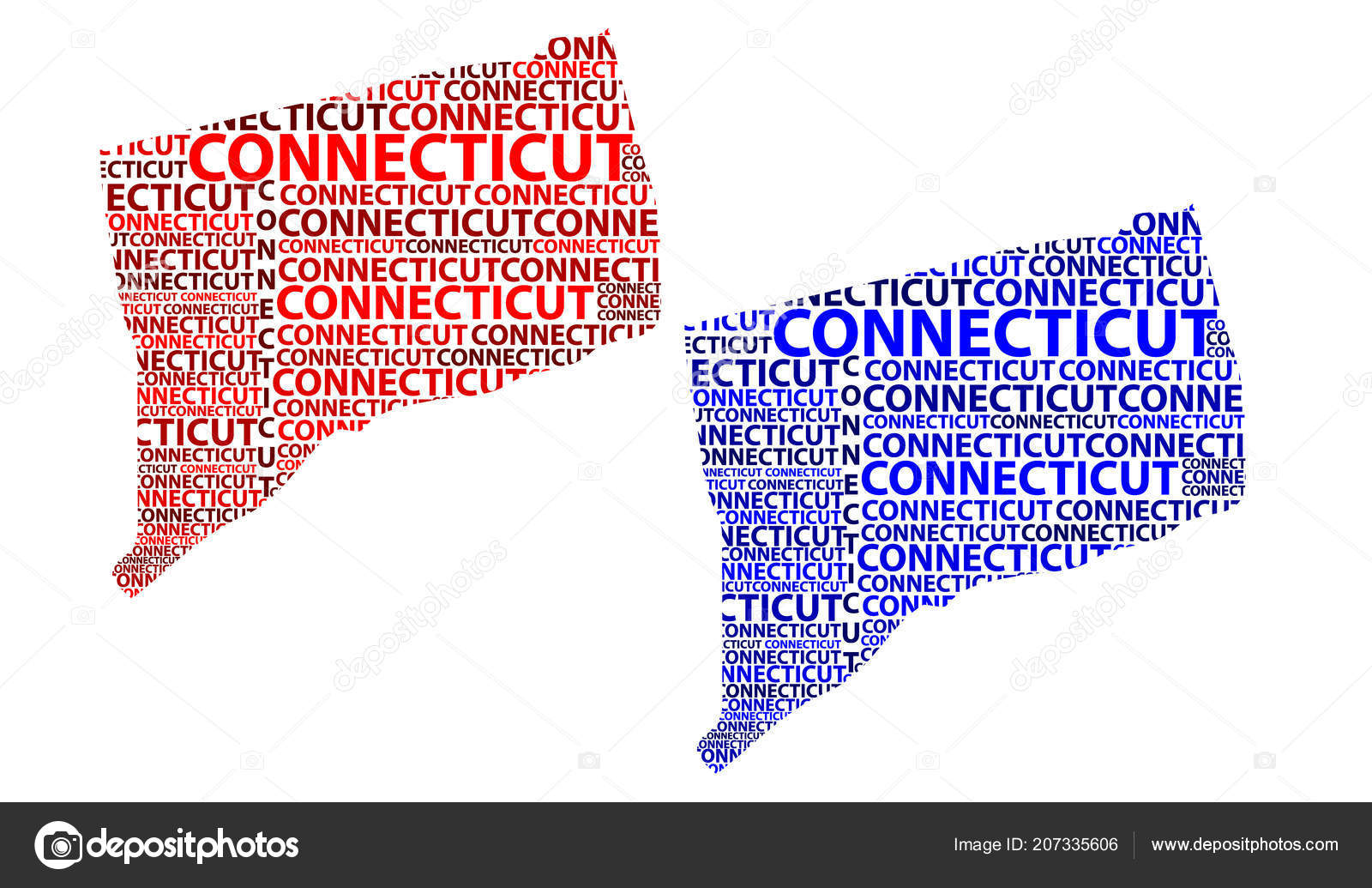 Sketch Connecticut United States America Constitution State Letter ...