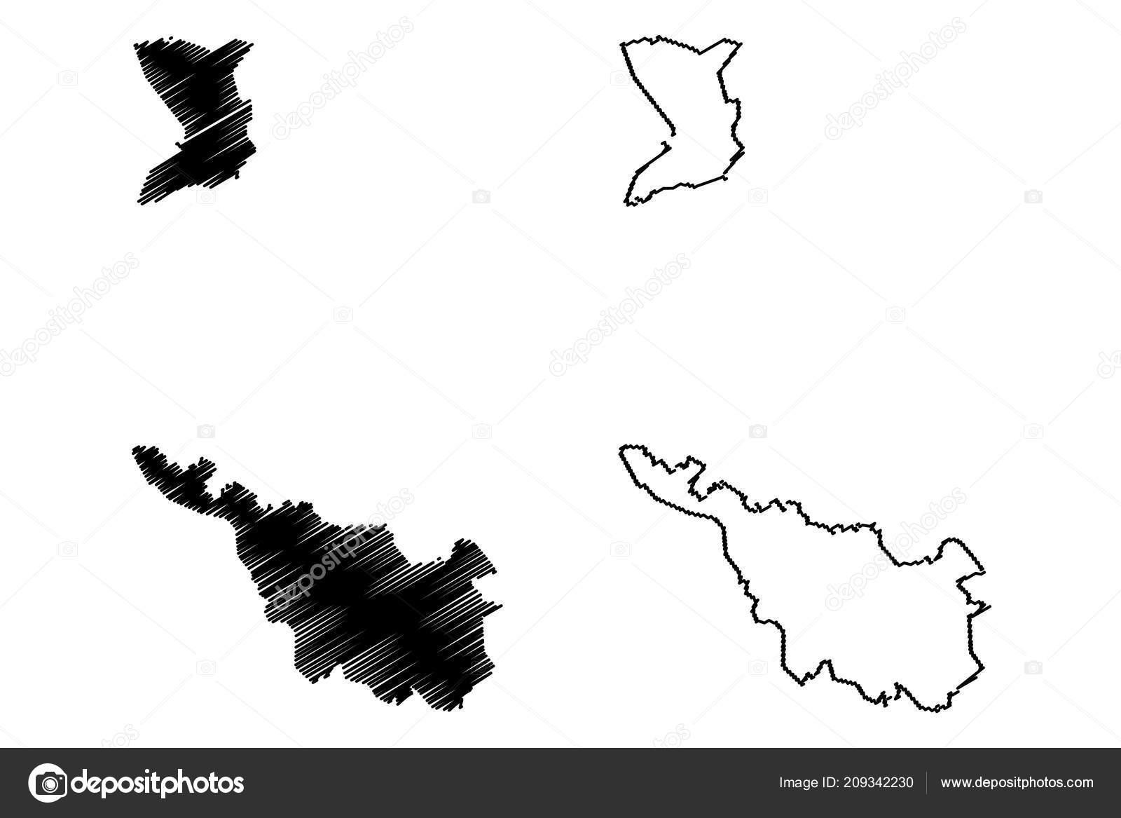 Bundesland Bremen Karte.Bremen Bundesrepublik Deutschland Bundesland Karte Vektor