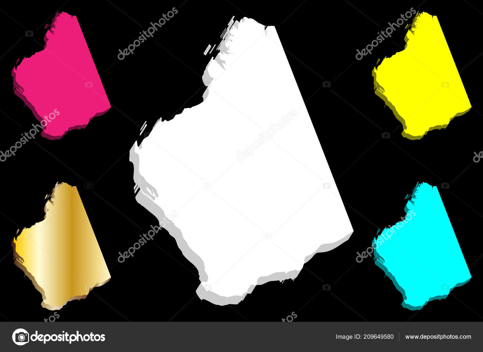 States And Territories Of Australia Map.Map Western Australia Australian States Territories White Yellow