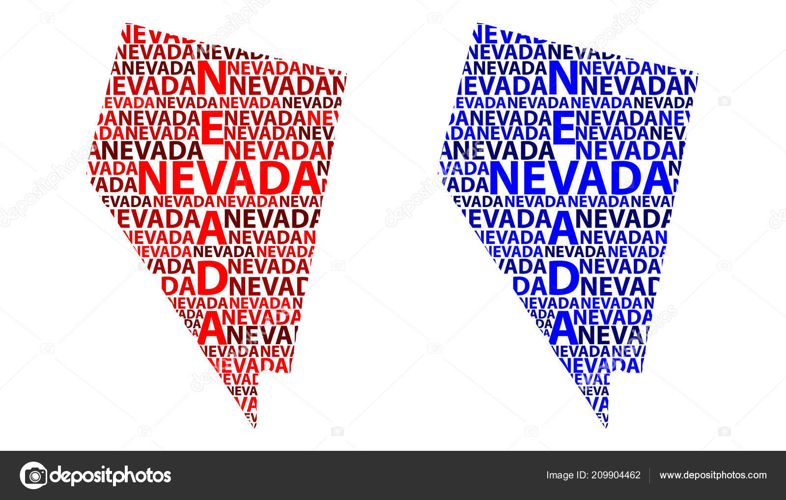 Sketch Nevada United States America Letter Text Map Nevada Map Stock Vector C Danler 209904462