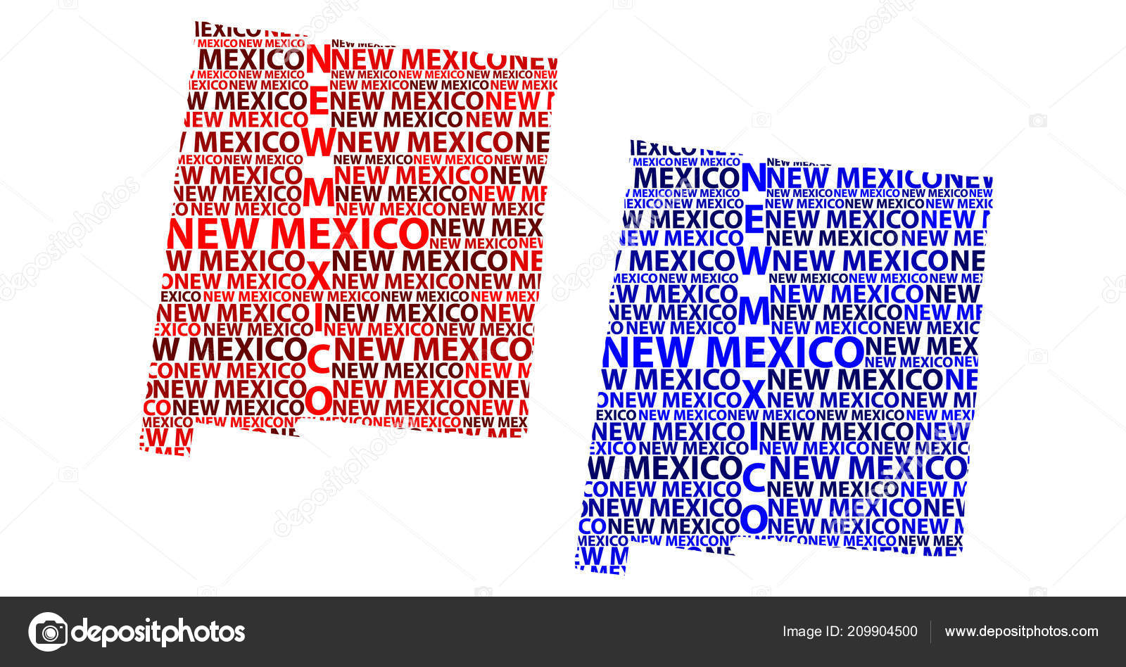 Sketch New Mexico United States America Letter Text Map New — Stock ...