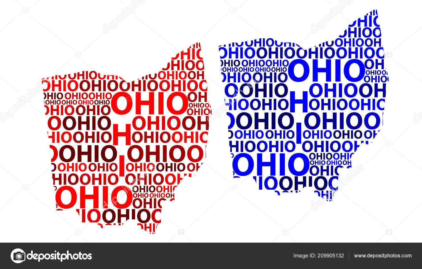 Ohio United States Map.Sketch Ohio United States America Letter Text Map Ohio Map Stock