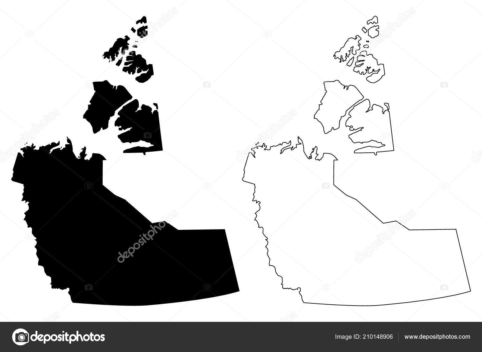Northwest Territories Canada Map.Northwest Territories Provinces Territories Canada Map Vector