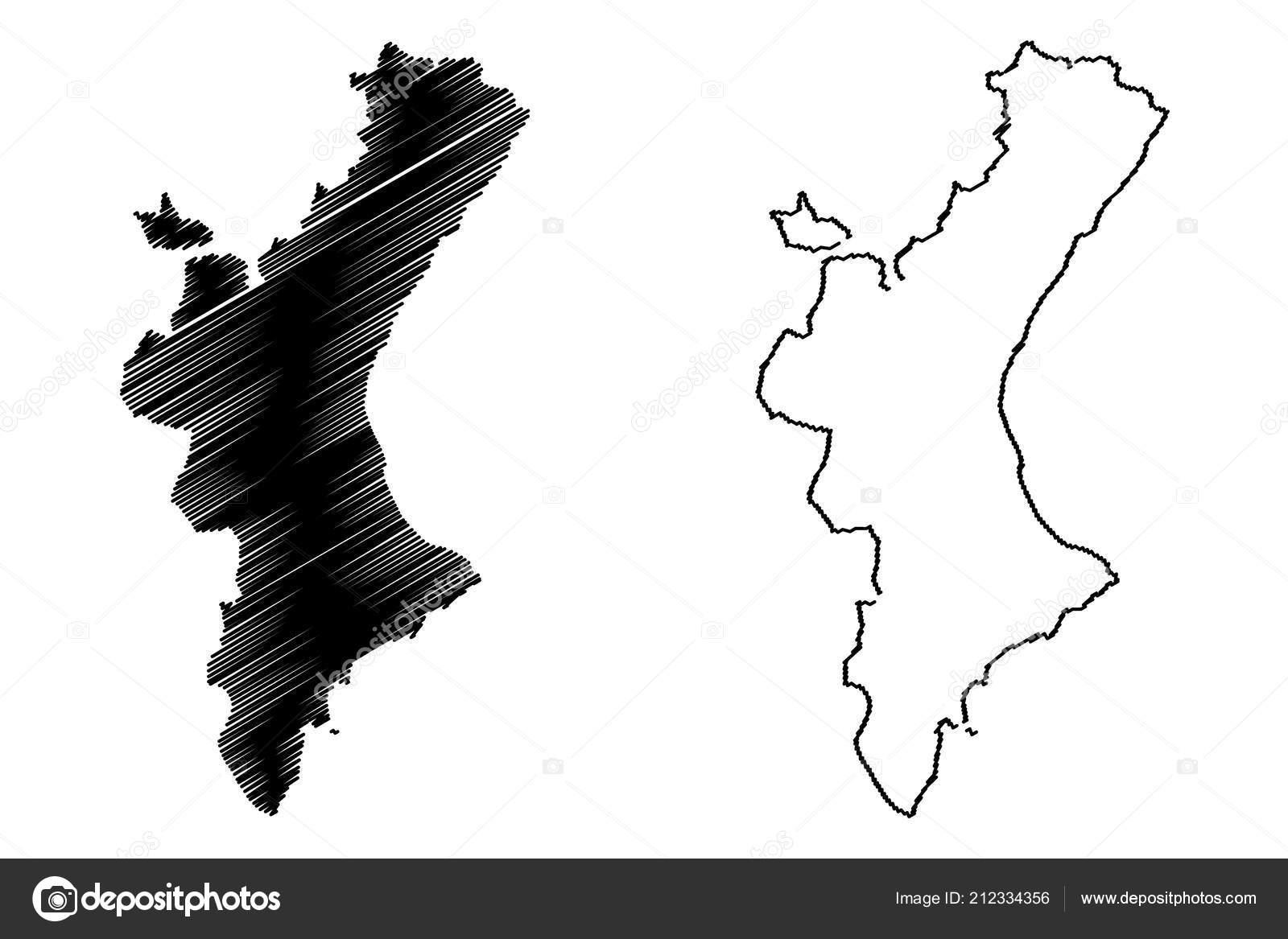 Autonome Regionen Spanien Karte.Valencianische Gemeinschaft Konigreich Von Spanien Autonome
