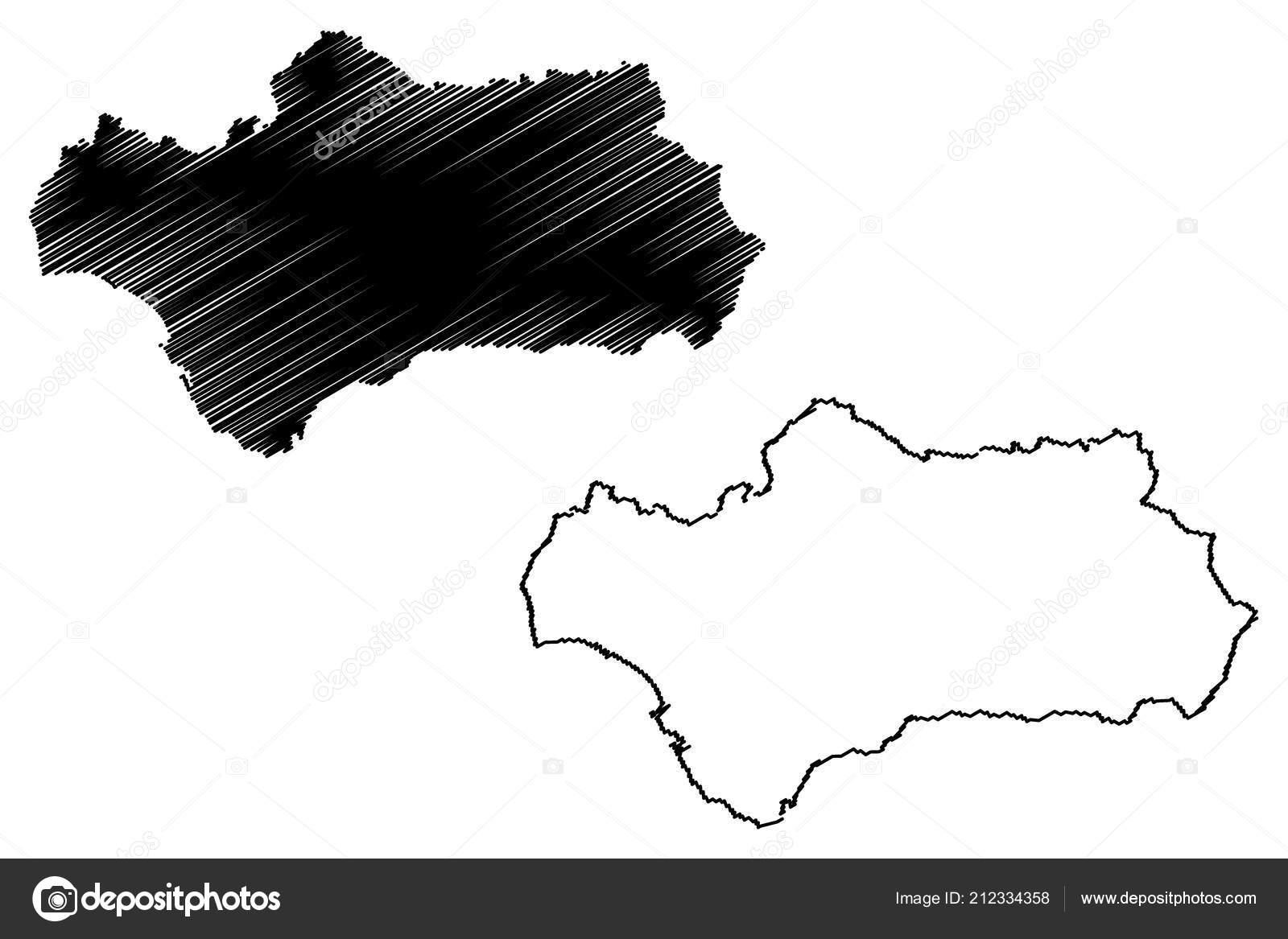 Autonome Regionen Spanien Karte.Andalusien Konigreich Von Spanien Autonome Region Karte