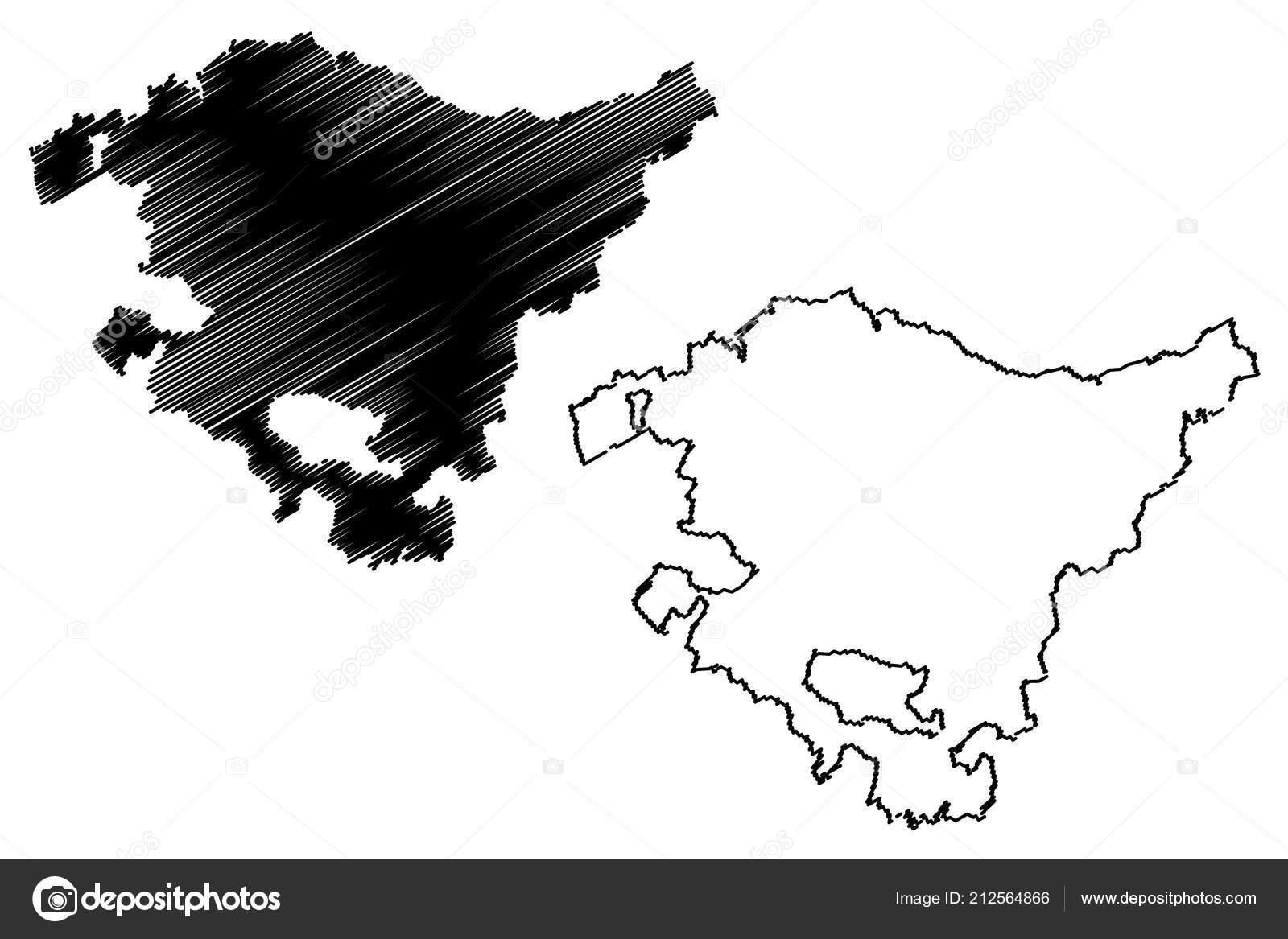 Autonome Regionen Spanien Karte.Baskenland Konigreich Von Spanien Autonome Region Karte