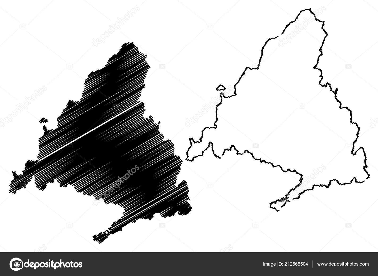 Autonome Regionen Spanien Karte.Gemeinschaft Von Madrid Konigreich Von Spanien Autonome