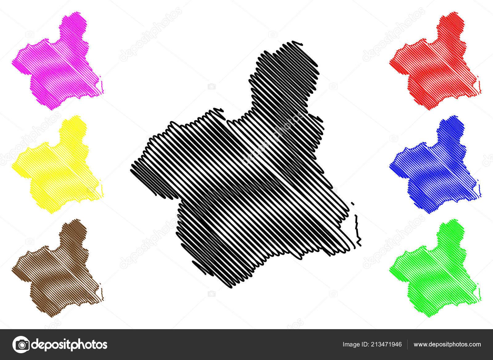 Autonome Regionen Spanien Karte.Murcia Konigreich Von Spanien Autonome Region Karte Vektor