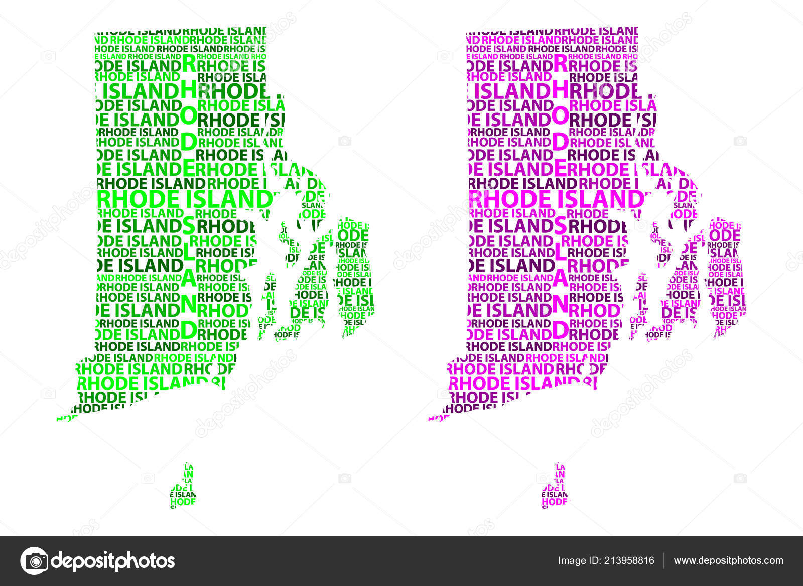Purple State Map.Sketch Rhode Island United States America Letter Text Map Rhode
