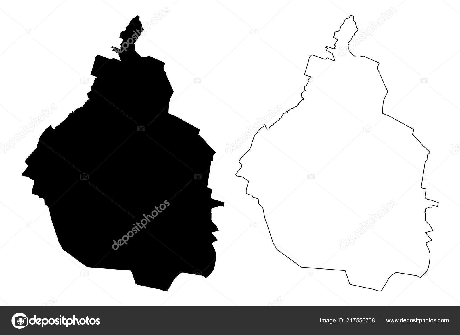 Mexico City United Mexican States Mexico Federal Republic Map Vector ...