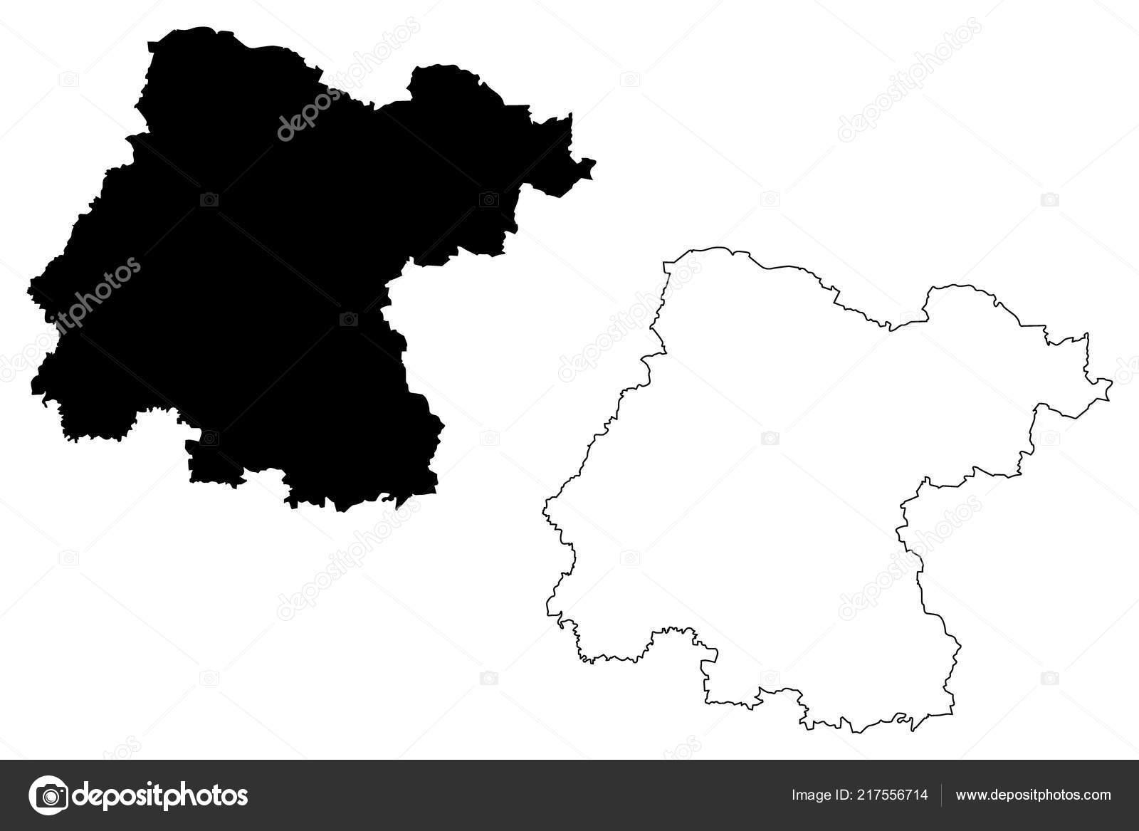 Guanajuato United Mexican States Mexico Federal Republic Map Vector ...