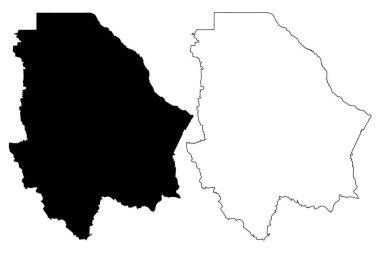 """Картина, постер, плакат, фотообои """"чиуауа - штат (мексика, сша, мексика, федеральная республика) карта векторной иллюстрации, каракули эскиз бесплатный и суверенный штат чиуауа карта """", артикул 217685444"""