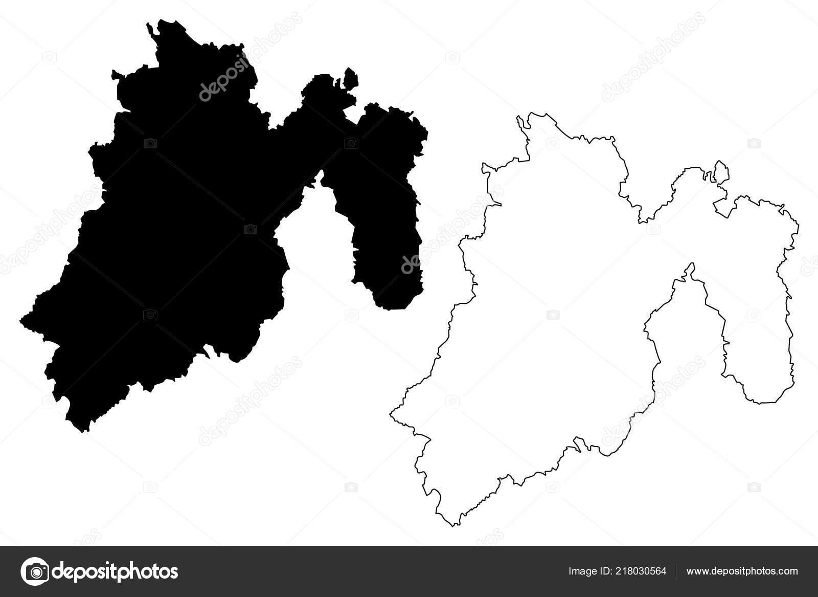 Mexiko Staaten Karte.Estado Mexico Vereinigten Mexikanischen Staaten Mexiko