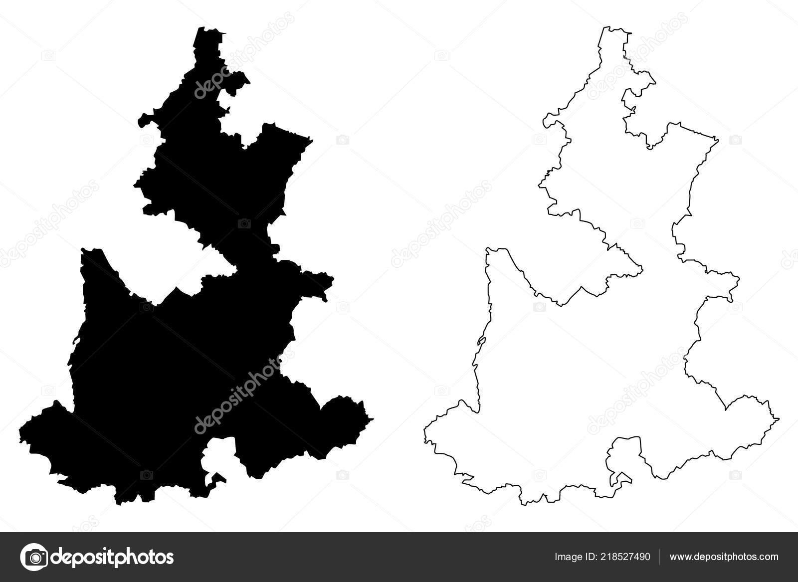 Puebla United Mexican States Mexico Federal Republic Map Vector ...