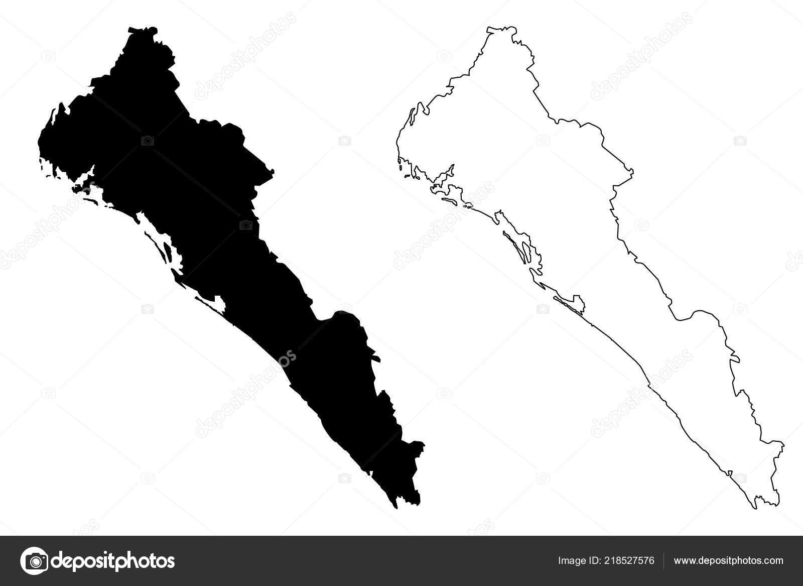 Mexiko Staaten Karte.Sinaloa Vereinigten Mexikanischen Staaten Mexiko