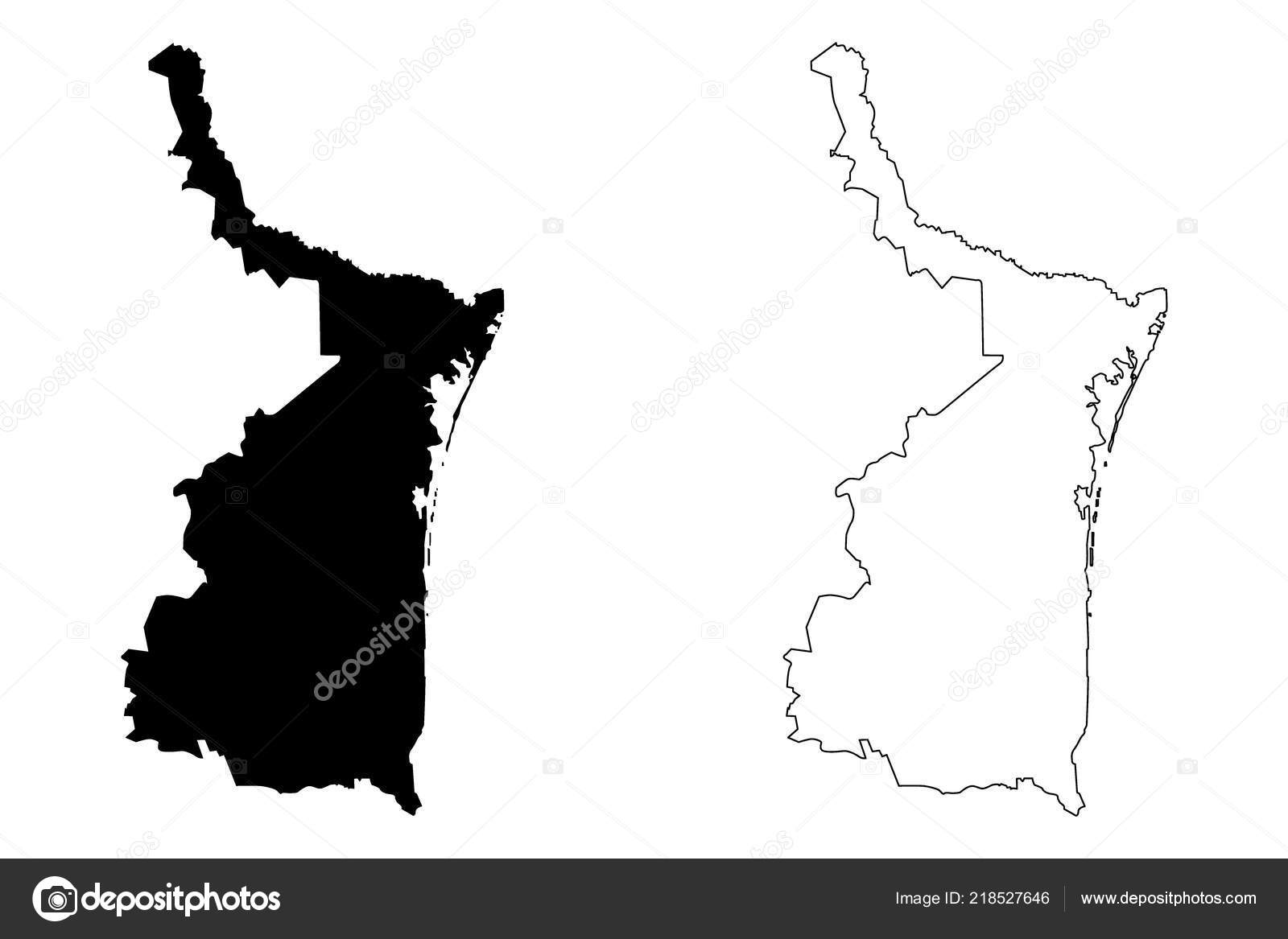 Tamaulipas United Mexican States Mexico Federal Republic Map Vector ...