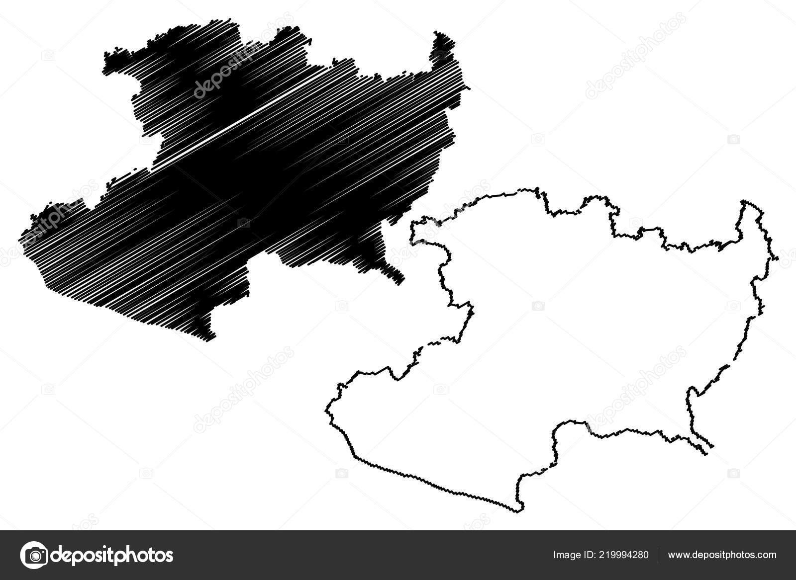 Ilustración Vector Michoacán República Federal Estados Unidos