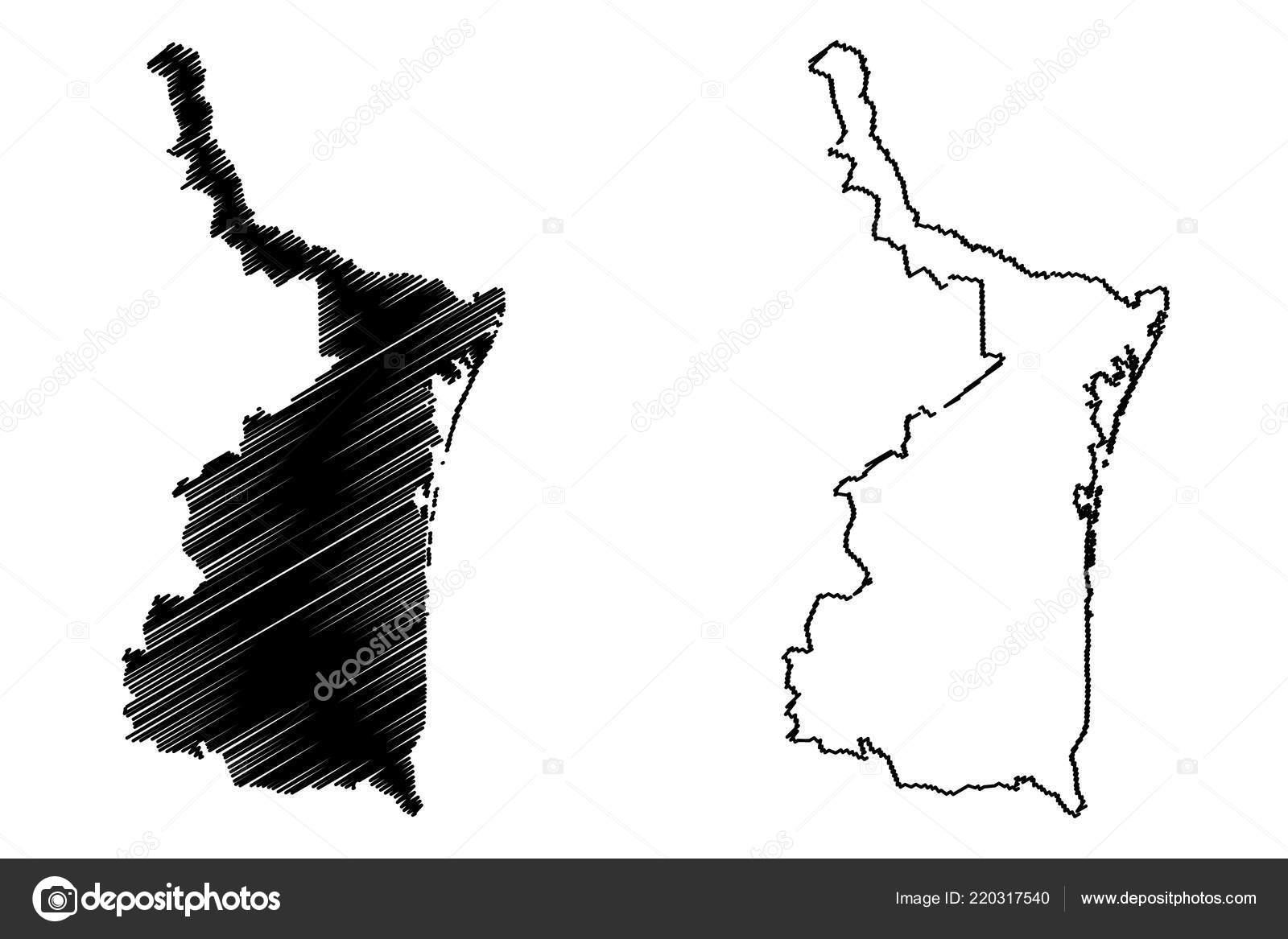 Mexiko Staaten Karte.Tamaulipas Vereinigten Mexikanischen Staaten Mexiko