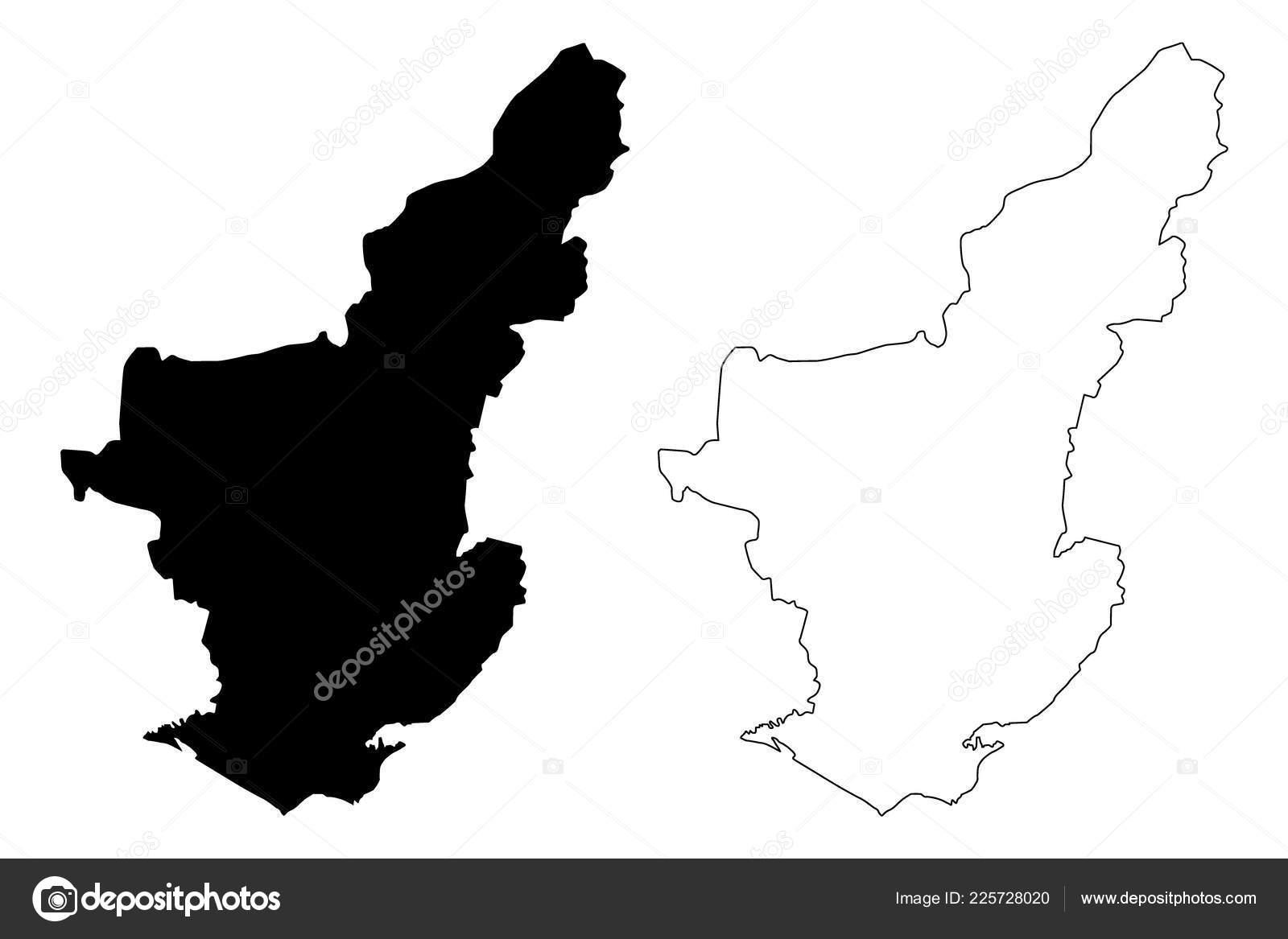 Adana Provinces Republic Turkey Map Vector Illustration ...