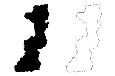 Edirne (Provinces of the Republic of Turkey) map vector illustration, scribble sketch Edirne ili map