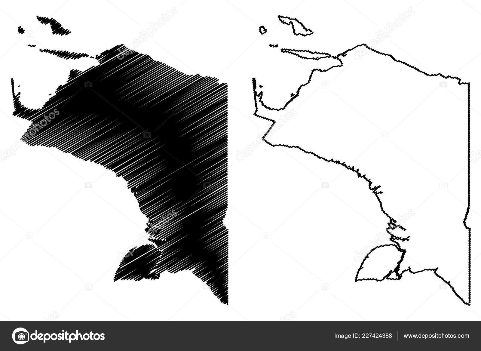 Papua Subdivisions Indonesia Provinces Indonesia Map Vector
