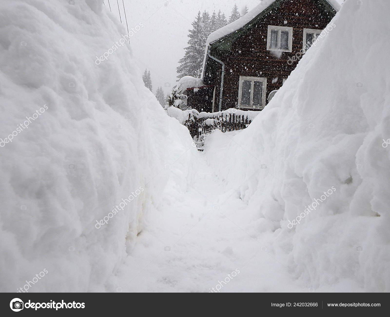 Extreme Snow Calamity Winter Weather Snowstorm Slovakia
