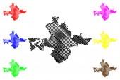Fotografie Město Banská Bystrica (Slovensko, Slovenská republika město) mapa vektorové ilustrace, Klikyháky skica mapa města Banská Bystrica