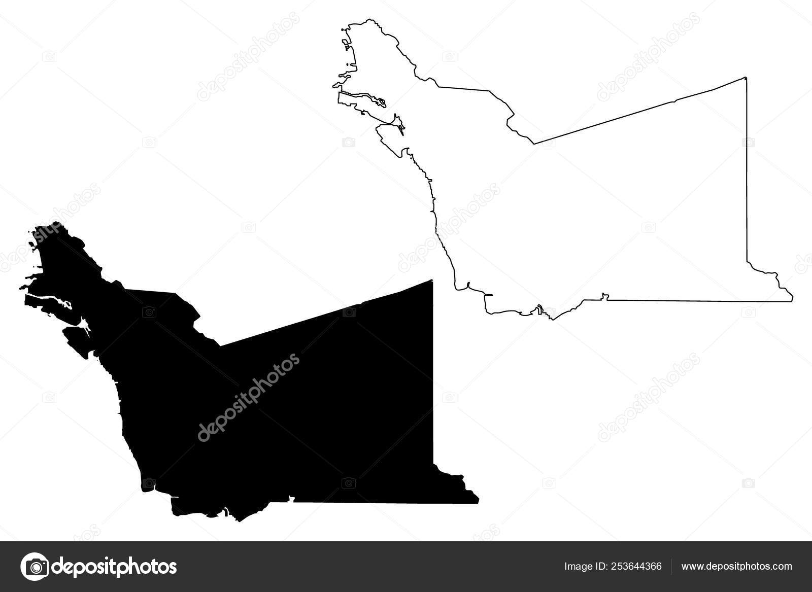 Counties In California Map.Alameda County California Map Vector Stock Vector C Danler 253644366
